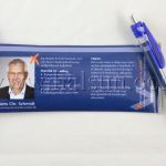 Pen with pull out banner