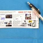 Merchandise pens with paper scroll