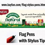 Flag Stylus Pens for Mobile Apps offline Marketing