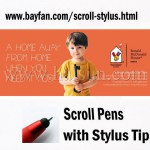 Custom Scroll Stylus, ball pen/stylus/scroll 3 in 1 Combo,