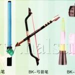 bow & arrow pens, grenade pens, artillery pens, lens pens, binoculars